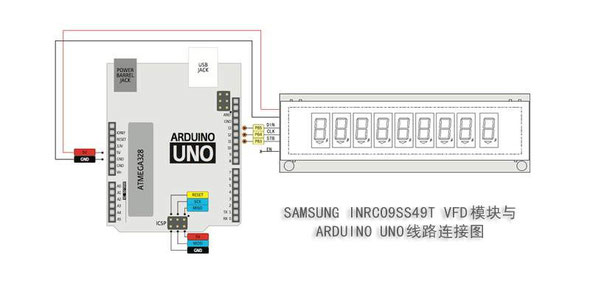 模块与ARDUINO UNO线路连接图