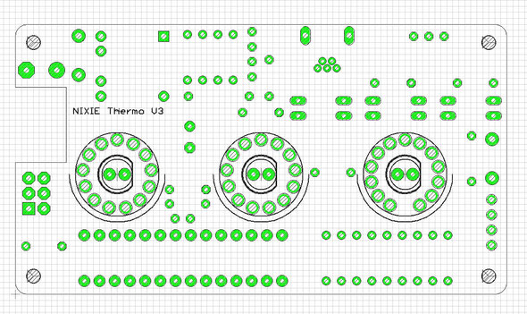 1mm grid of topside of PCB