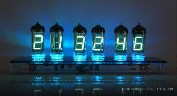 IV-11六管时钟-实际正面显示效果
