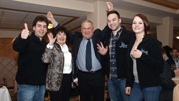 """Wahlparty von Lothar Koch (CDU) am 20.01.2013 im Gasthaus """"Zur Erholung"""" in Brochthausen"""