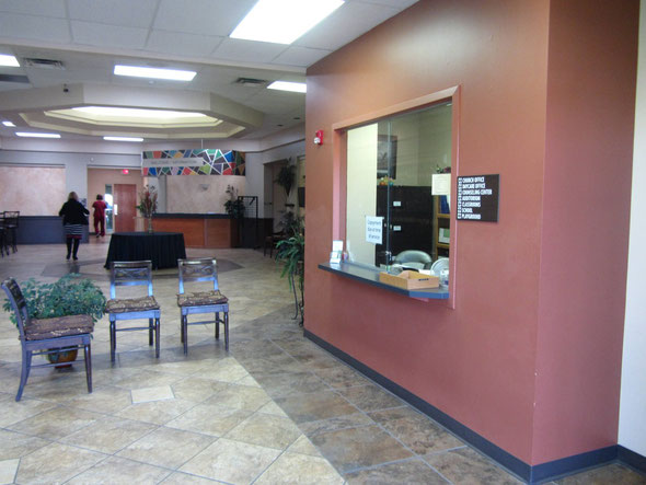 This is the reception and waiting room at Word of Life Counseling Center North.