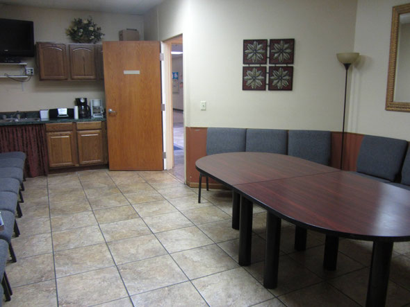 This is the group room where the anger managment and domestic viiolence group meets.