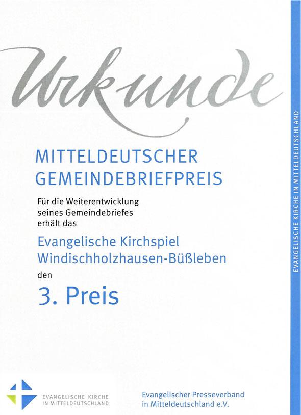 Auszeichnung unseres Gemeindeboten 2012