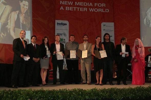 Preisverleihung WSA 2009 in Mexiko mit dem Kunden s Bausparkasse & unser Team.