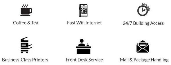 コワーキングスペースで提供されているサービス