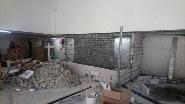 興建本地啤酒廠工程, 食品工場出牌  bathroom/ toilet extention works in a local brewery for food factory licence application HK