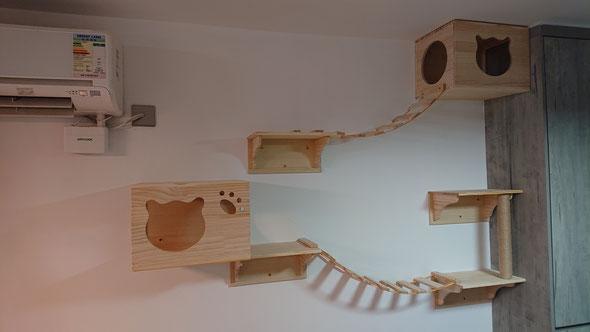 安裝貓爬架