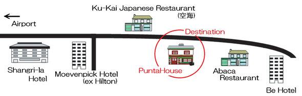 Punta House 案内地図