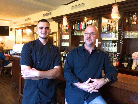Marcus Schönfelder - Küchenchef und Uwe Geyer - seit 25 Jahren Gastronom