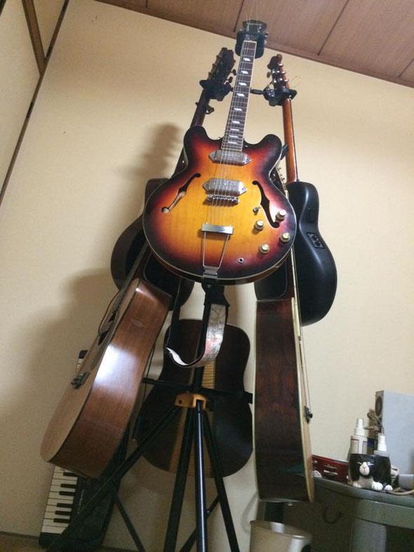 ギターの木。ツリ―型6本用ギター・スタンド