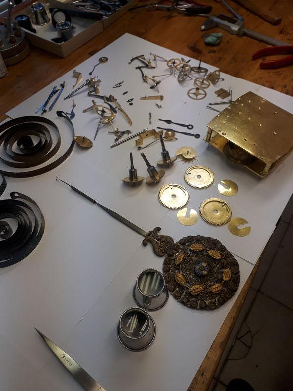 Gereinigte Teile vor Montage