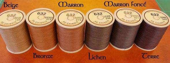 Comparaison des fils de lin de couleur marron - Fil au chinois