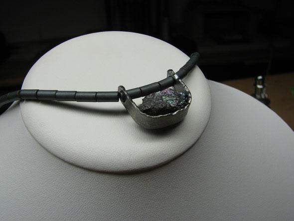 Anhänger in Silber mit Kundenstein