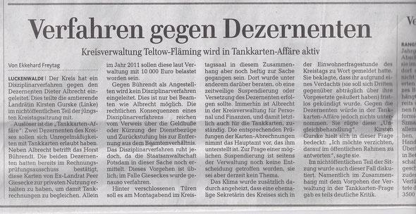 MAZ / Zossener Rundschau vom 22./23.06.2013