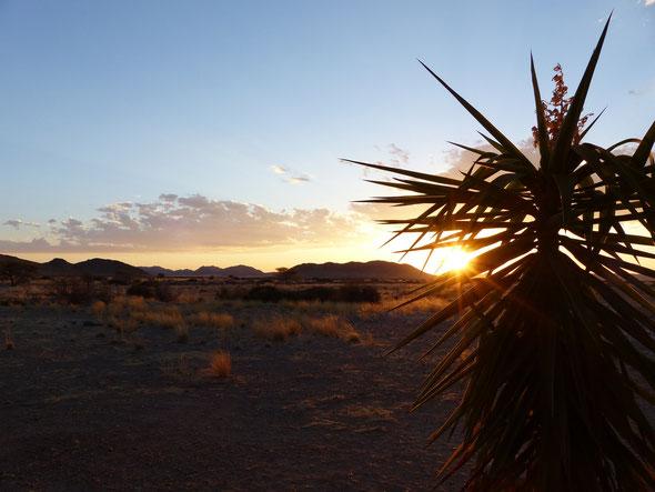 """Blick von der zweiten Lodge """"Weltevrede"""" in den Naturpark Namib Naukluft"""