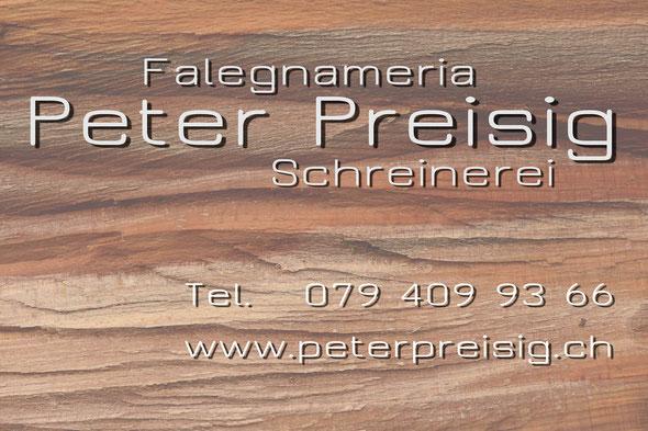 Schreinerei, Peter Preisig, Tessin