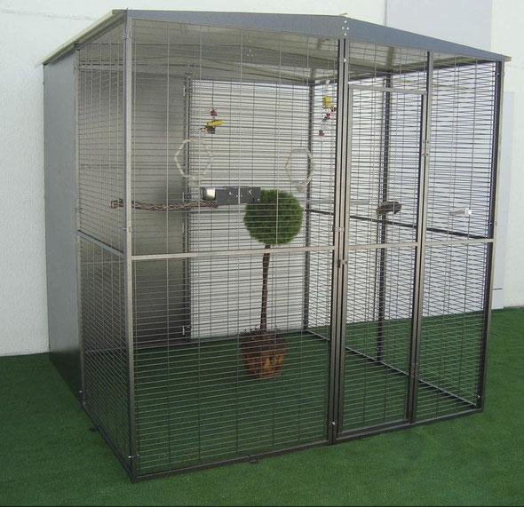 voladero jardín loros 2x2 (4m2) techo 2 aguas 053.015--499€ portes incluidos en península