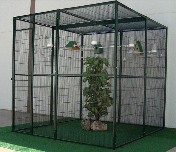 voladero interior 4m2  (2x2) techo malla 054.105---417€ portes incluidos en península