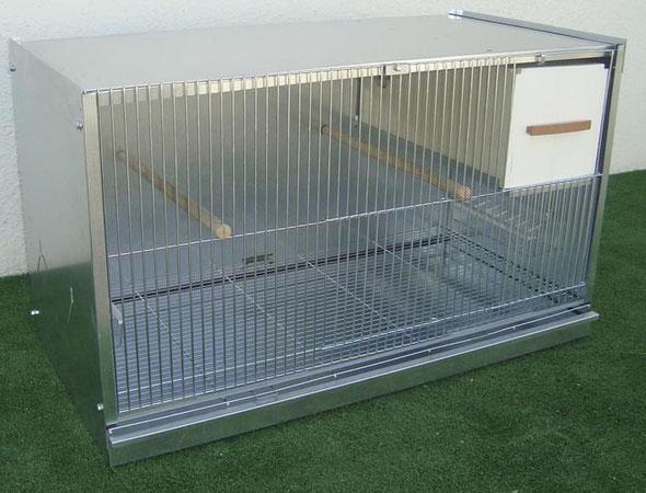 módulo cría agapornis zincado desmontable 80x47,7x41,5 070.230 (incluye palos y nido) 75€ portes incluidos en península