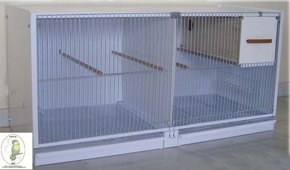 módulo cría agapornis nº11 blanco desmontable 97,5x47,5x41,03 070.215--90€ portes incluidos en península