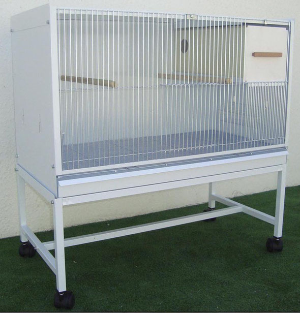 módulo cría agapornis blanco desmontable 80x47,7x41,5 070.225 (incluye palos y nido) 77€ portes incluidos en península