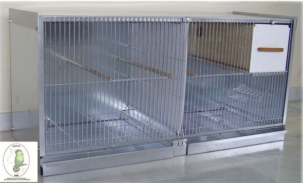 módulo cría agapornis nº11 zincado desmontable 97,5x47,5x41.03 070.220--85€ portes incluidos en península