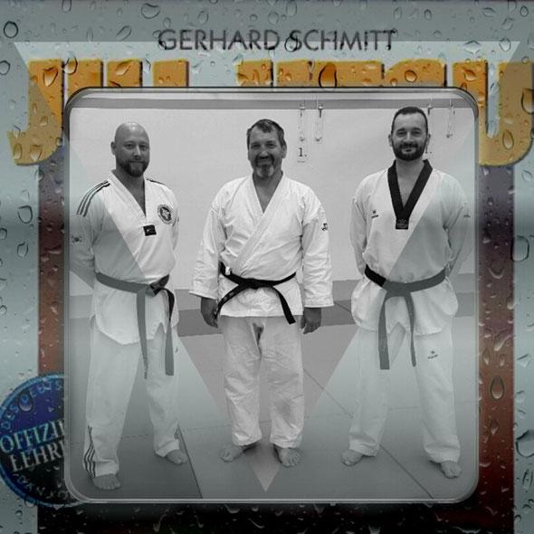 Erol Alp auf einem Lehrgang mit Gerhard Schmitt (8. DAN Ju-Jutsu)