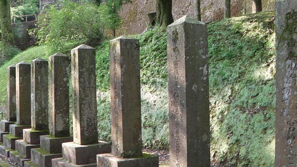 日露戦争 尉官の墓(9名)