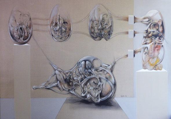 Le cycle de la Vie Acrylique sur toile Dim: 140cmx200cm