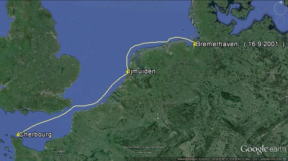 Cherbourgh - Ijmuiden - Bremerhaven