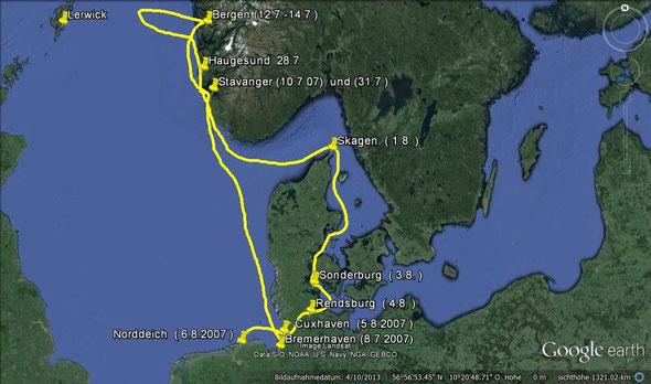 Unsere Reise nach Norwegen im Juli 2007