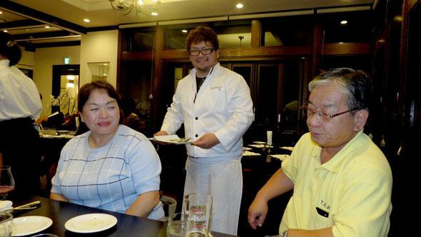 田中ご夫妻とシェフの聡さん