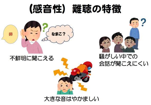 感音性難聴の特徴