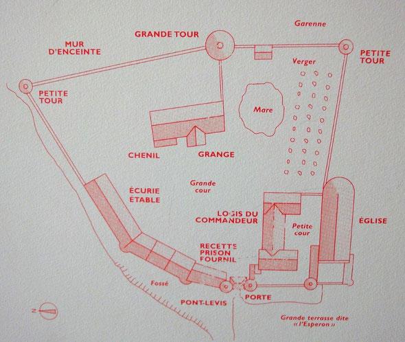 Plan de la Maison d'Arville. © Centre d'histoire des Ordres de chevalerie.