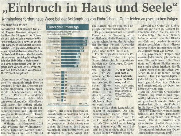 Quelle: Nordsee Zeitung, Bremerhaven, 2012