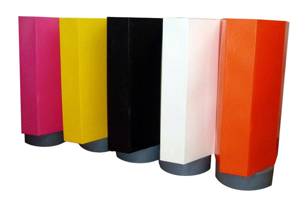 Pylon Protect is available in a  rainbow of colors to complement  track wall colors or special race event.