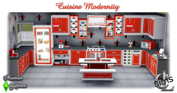 Cuisine Modernity Sims 3