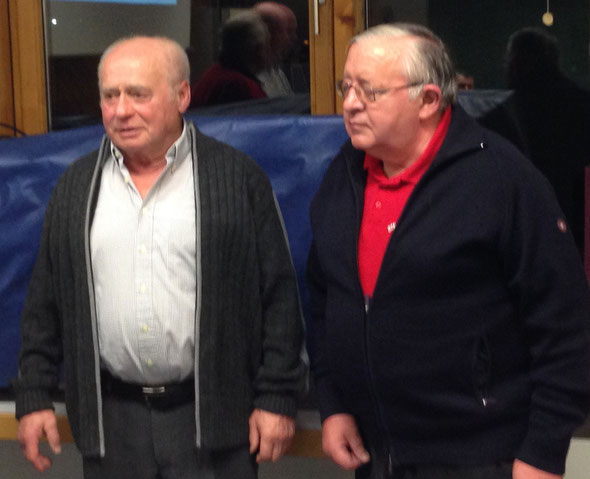 Hartmut Trippel (links) und Walter Hofmann wurden für 50 Jahre Mitgliedschaft geehrt.