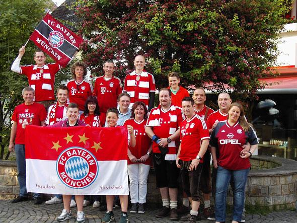 Gruppenfoto FC Bayern Fanclub Havixbeck