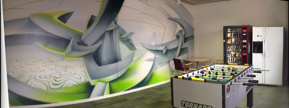 Mural,  Moscow office NVIDIA, NVIDIA, Graffity, Anton Miroshnikov, Med-art, from russia with love, from russia with awesome, граффити, роспись, московского отделения NVIDIA, 2 комната, 2 стена
