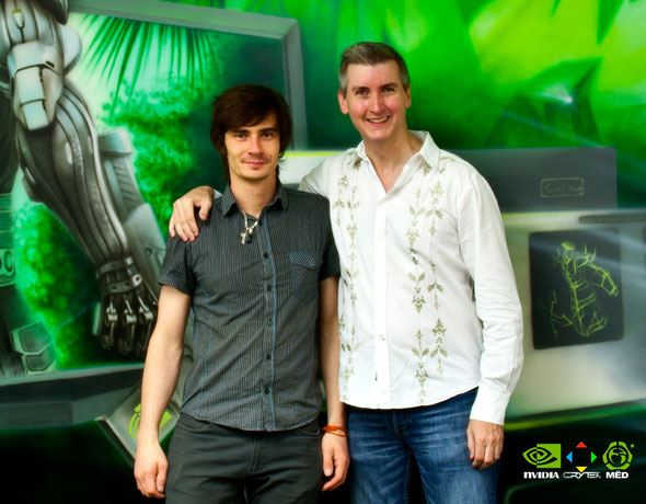 photo with John Spitzer  NVIDIA Mural