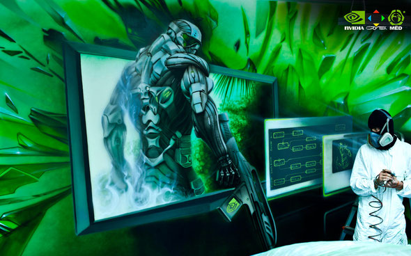 photo in process  NVIDIA Mural