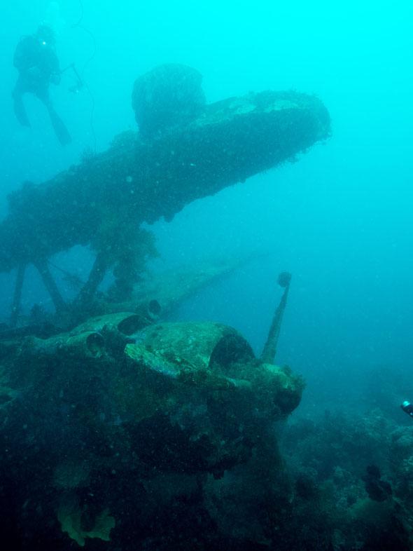 Epave d'hydravion au sud de la Nouvelle Bretagne