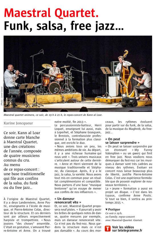 Le Télégramme 12/07/2014
