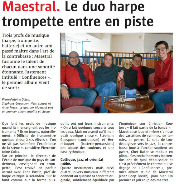 Le Télégramme 11/03/2016