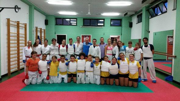 Foto con Sergio Donati Vicepresidente FIJLKAM e responsabile settore Karate (30/09/2014)