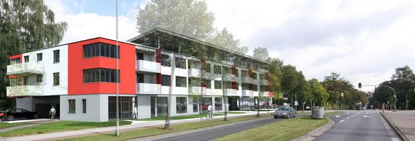 Neubau eines Wohn- und Geschäftshauses, Bielefeld-Schildesche, 2013-2016