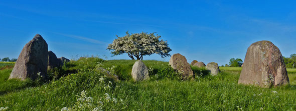 Auch dieses Megalithgrab ist beim Bildungsurlaub oder der Studienreise zu besichtigen