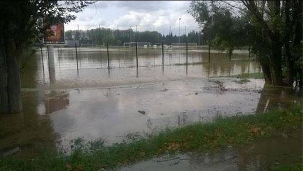 Le centre de formation inondé le 10/10/2014