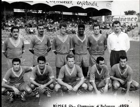 Nîmes Olympique 1959/60 champion d'automne